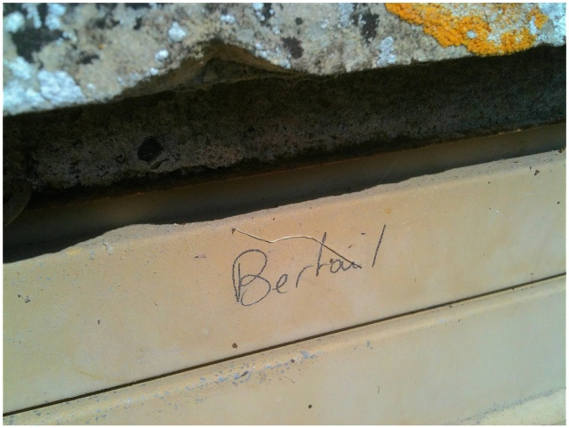 This is a close-up of the Bertail mailbox. I think the handwritten name is charming.