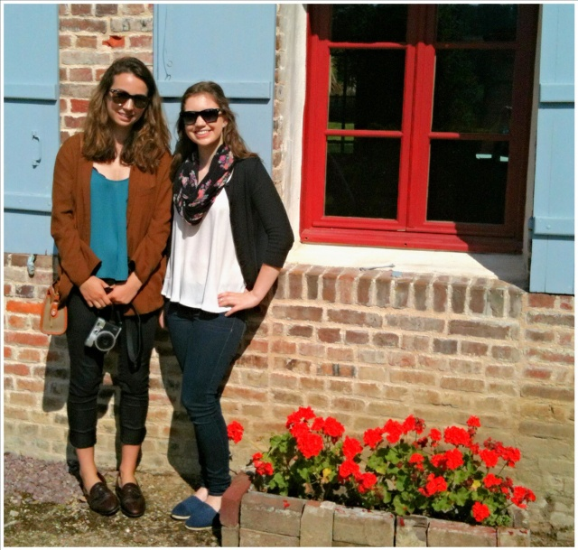Chloe* and Ella outside the Bertail house.