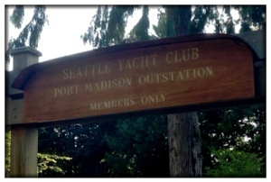 We went to a Seattle Yacht Club outstation for a picnic dinner.