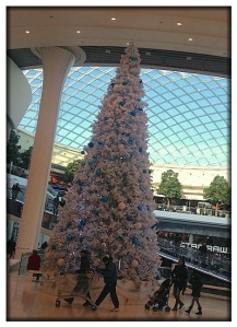 Part of the Christmas decorations inside Atlantis.