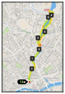 The route of my run this morning.