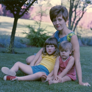 Michele with daughters Melinda and Brenda, late 1960's.