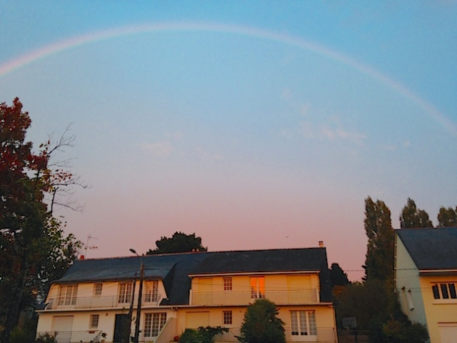 "Somewhere under the rainbow is ""our"" house in Nantes. Bérnard sent us this picture that he took of the house in which we lived for a year 5 years ago."