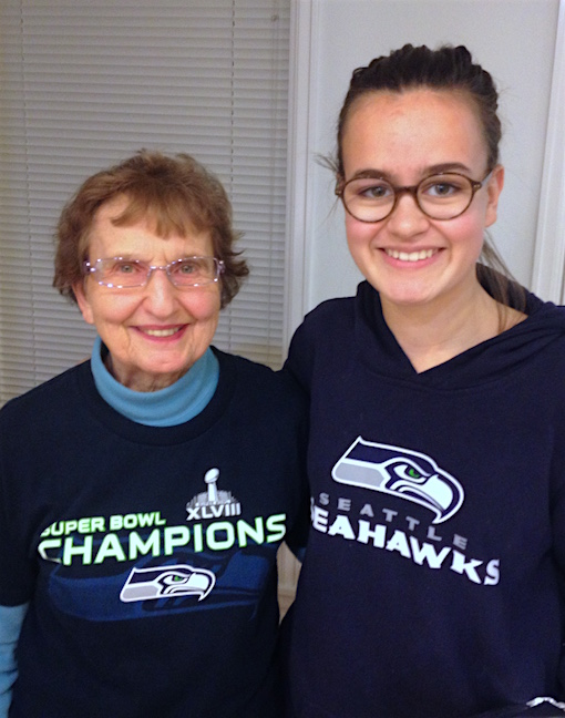 These two Seahawks fans could not prevent the team from giving up another 4th quarter lead. But, hey, at least these two look good!