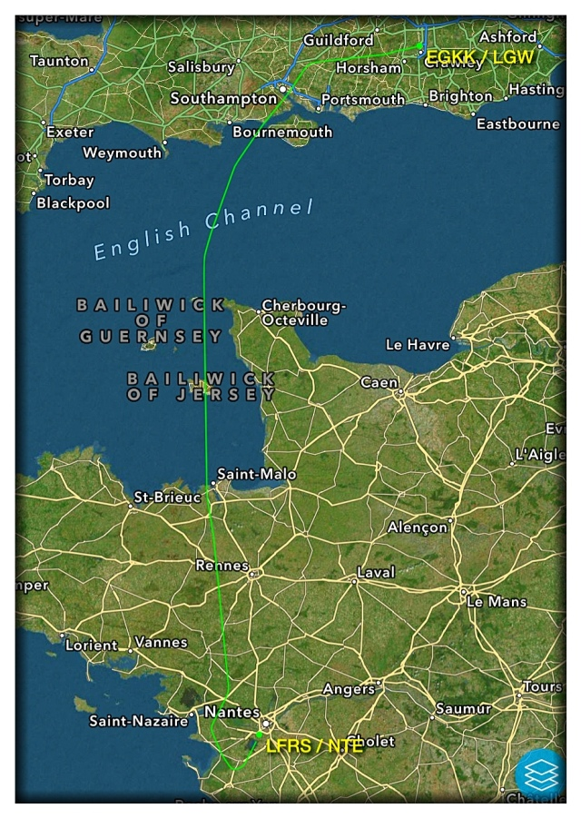 And this is the route we took from London.