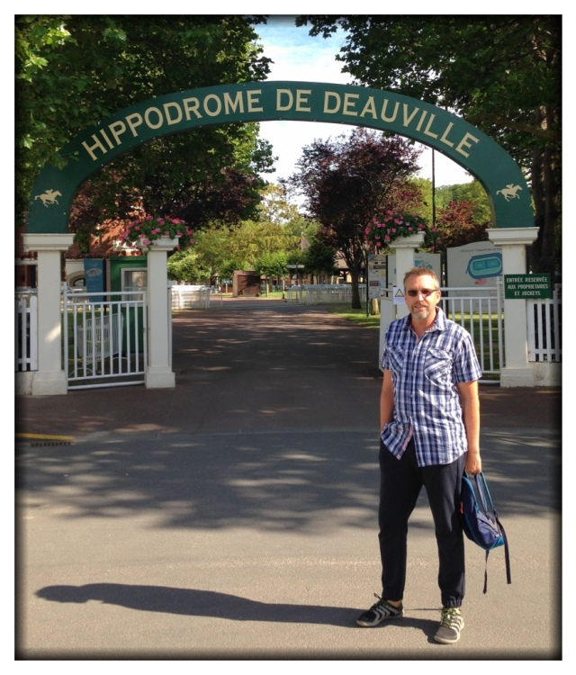 A short drive later, we were in Deauville. Not only does Deauville have a beautiful racetrack, the city happens to be the place where Maxime was born!