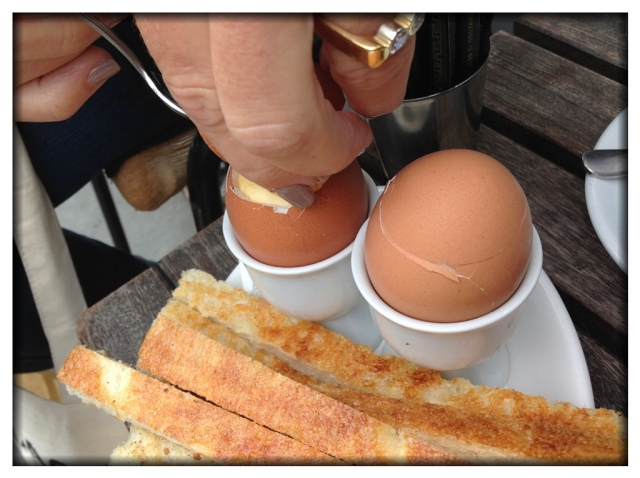 Eggs and Soldiers for breakfast.
