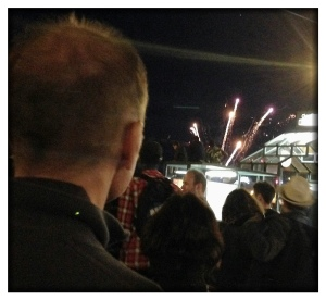 Laurent in Nantes last night at the fireworks show.