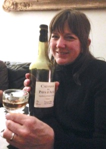 Melinda with Calvados meant for me!